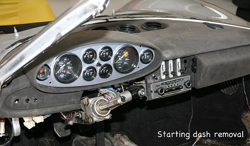 Removing Ferrari Dino dash