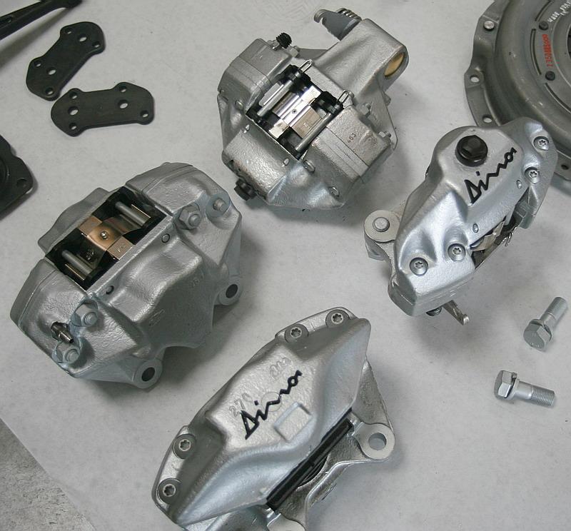 Dino 246 brake calipers, Dino restoration