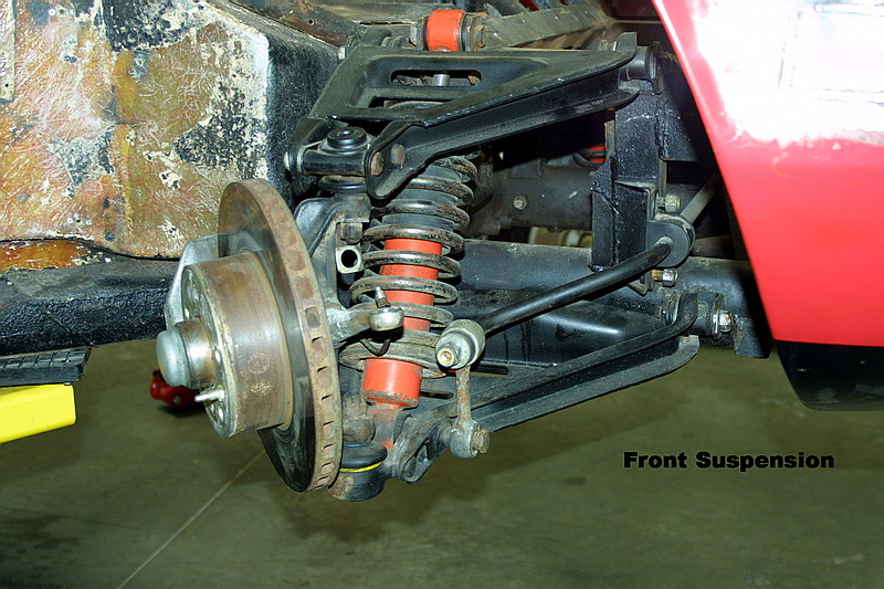 Dino front suspension