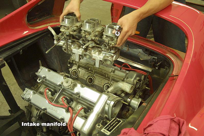 Dino 246 engine removal, Jon Gunderson