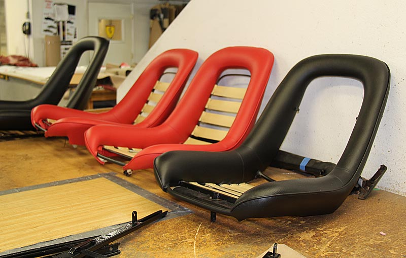Red Dino seats, dino restoration