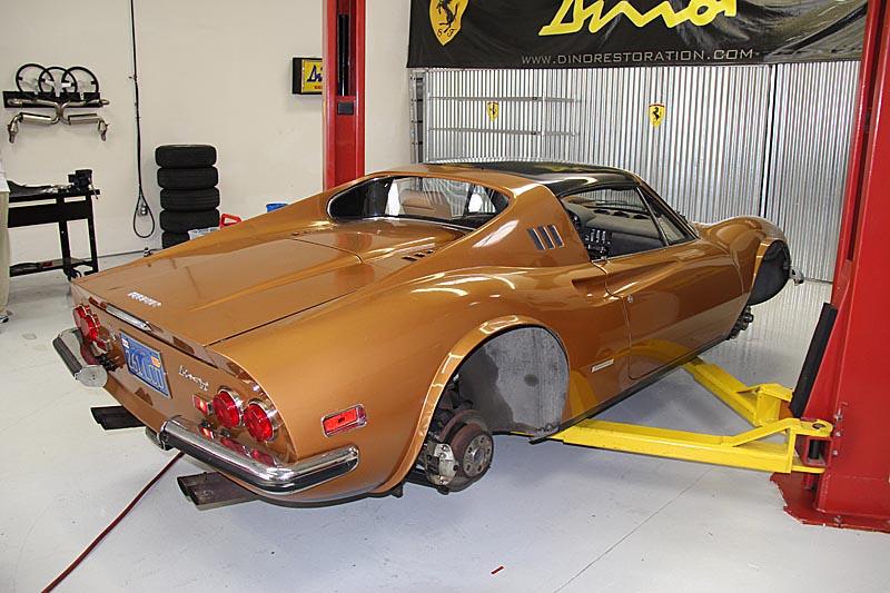 Dino 246 GTS 06450 under going a full restoration. Jon Gunderson