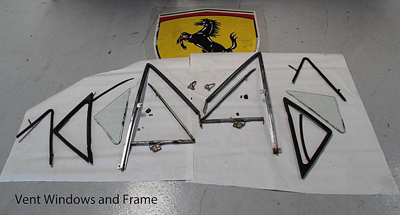 Ferrari Dino 246 GTS Vent Window, Dino Restoration, Jon Gunderson