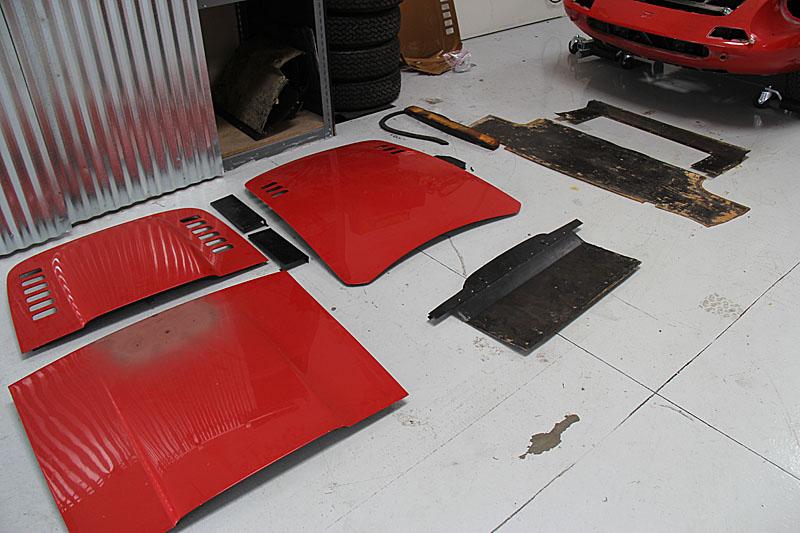 Ferrari Dino 206 0136 restoration, Dino Restoration, Jon Gunderson