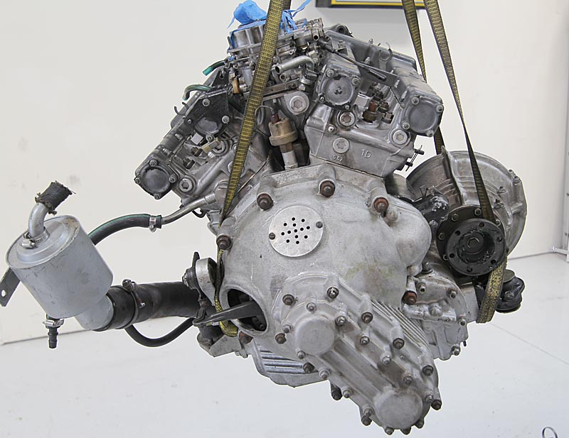 Ferrari Dino 206 Motor Removal, Dino Restoration, Jon Gunderson 00136