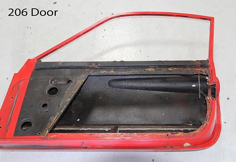 Ferrari Dino 206 Door 00136, Dino Restoration, Jon Gunderson