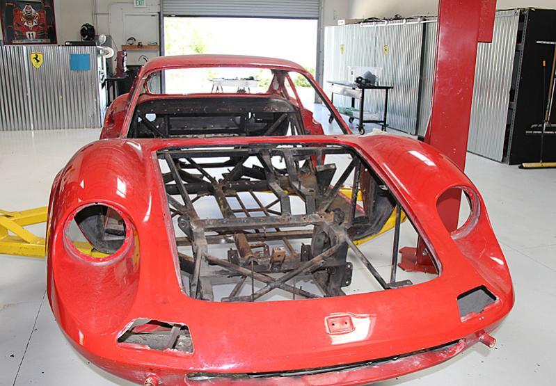 Ferrari Dino 206 Naked. Dino restoration, Jon Gunderson