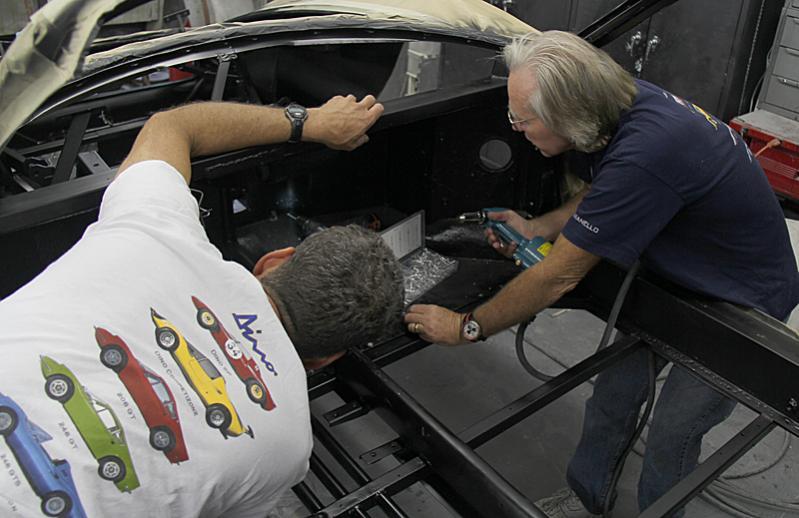Ferrari Dino 246 Fiberglass, ceramic insulation, dino restoration