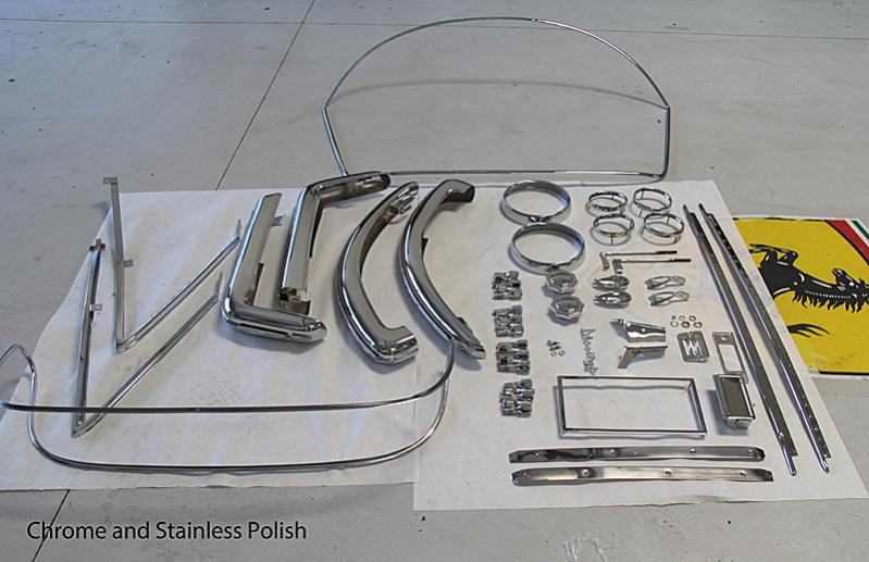 Ferrari Dino 246 GTS chrome and Stainless, Ferrari Dino Restoration #06450