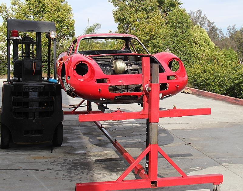 Dino 246 GT disassembly, Dino Restoration, Jon Gunderson