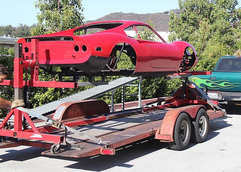 Ferrari Dino 246 Media Blasting, Dino Restoration, Jon Gunderson