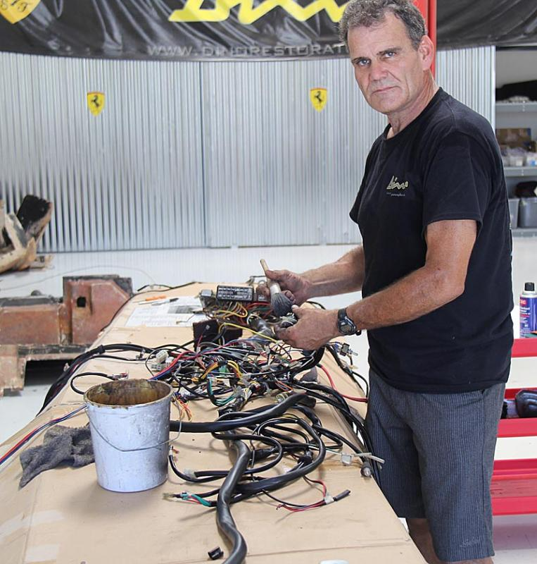 Wiring Harness Clean Up : Cleaning wiring harness dino restoration