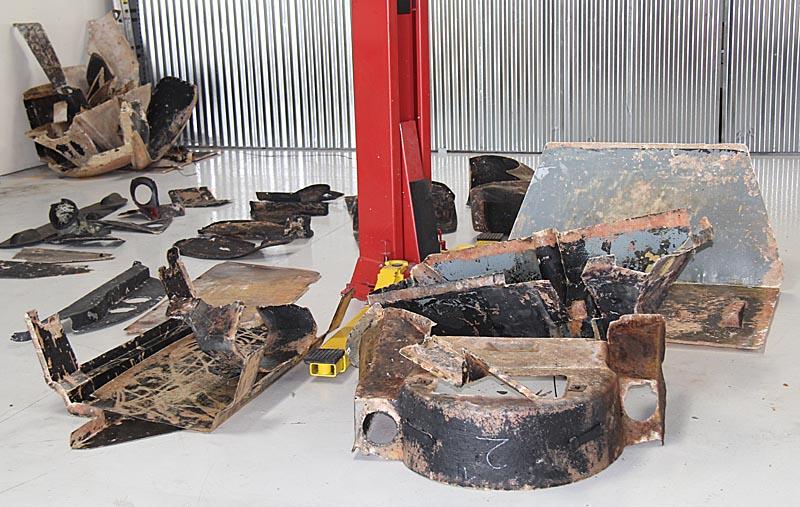 Ferrari Dino Fiberglass panels, Dino restoration