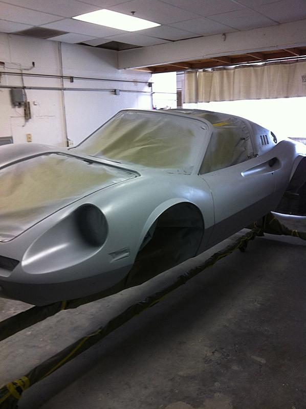Front Wheel bearings, urethane epoxy primer, Ferrari Dino Restoration, Jon Gunderson