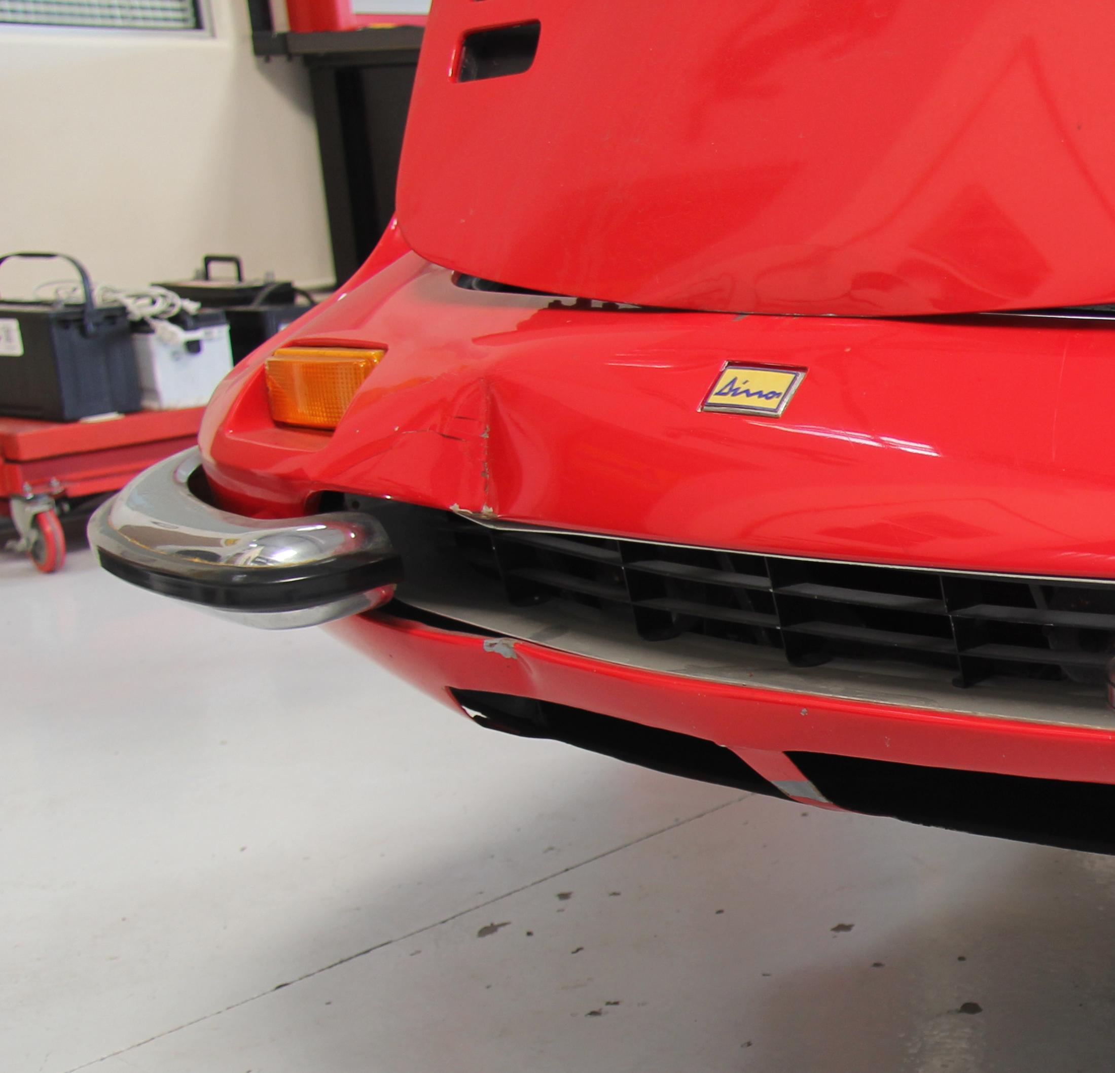 Ferrari Dino 246 Grill, Dino Restoration, Jon Gunderson