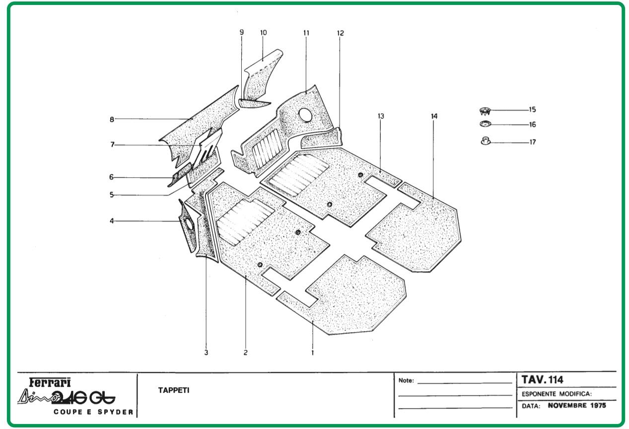 TAV 114 Carpeting, Dino Restoration