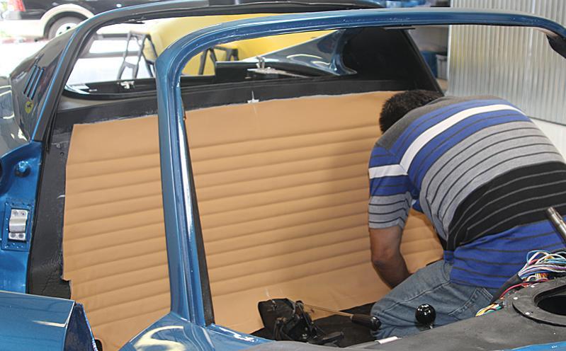Ferrari Dino 246 interior, Auto's International, Dino Restoration, Jon Gunderson