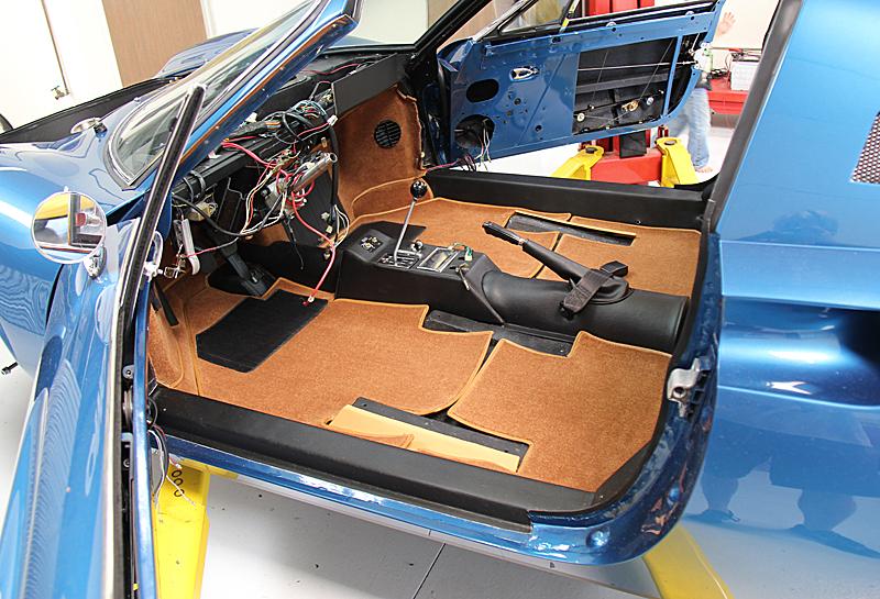 Ferrari Dino 246 Carpeting, Dino Restoration, Jon Gunderson