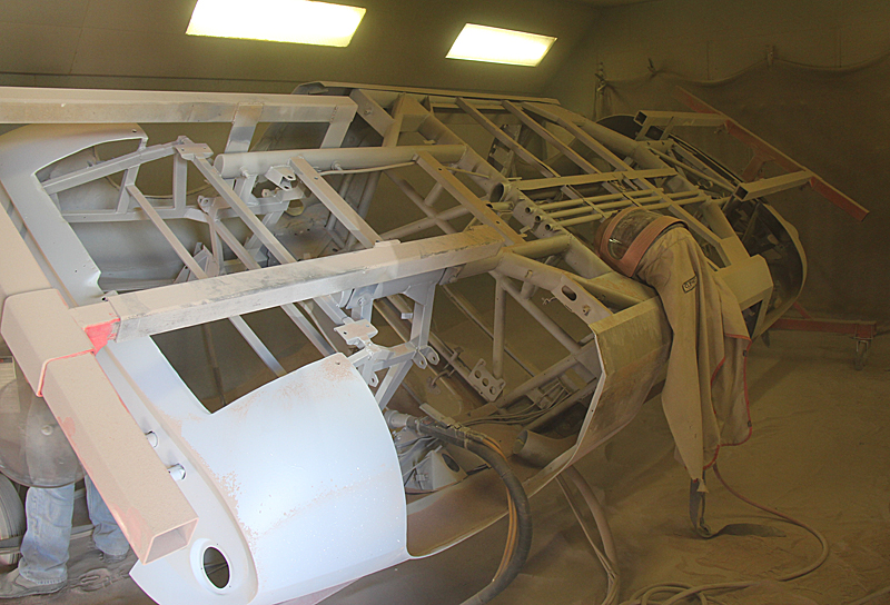 Media Blast Ferrari Dino GTS ,Dino Restoration