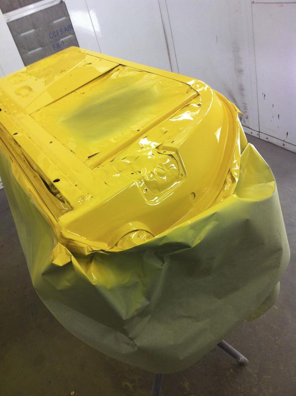 Yellow 246 gts, Dino Restoration, Jon Gunderson