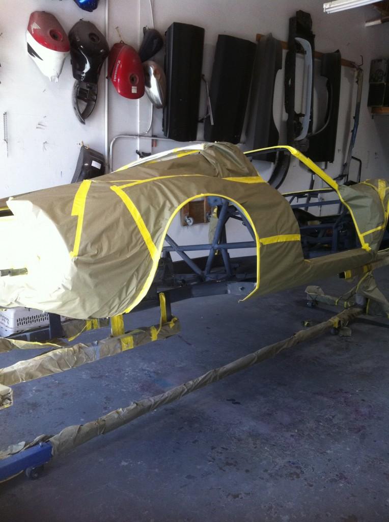 Ferrari Dino 246 Frame Paint, Dino Restoration, Jon Gunderson