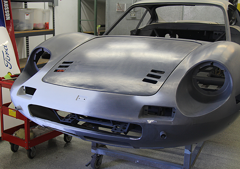 Ferrari Dino GT metal work. Dino Restoration, Jon Gunderson