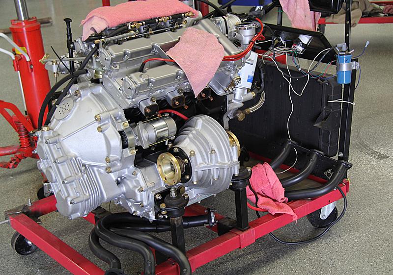 Ferrari Dino 246 engine install, Dino Restoration, Jon Gunderson