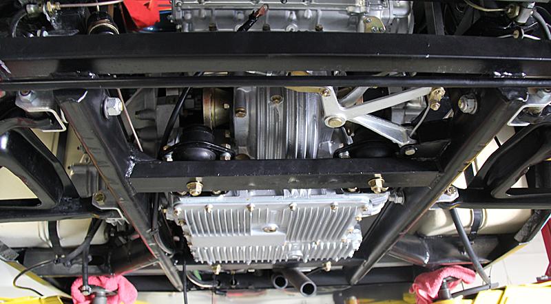 Ferrari Dino engine install. Dino Restoration, Jon Gunderson
