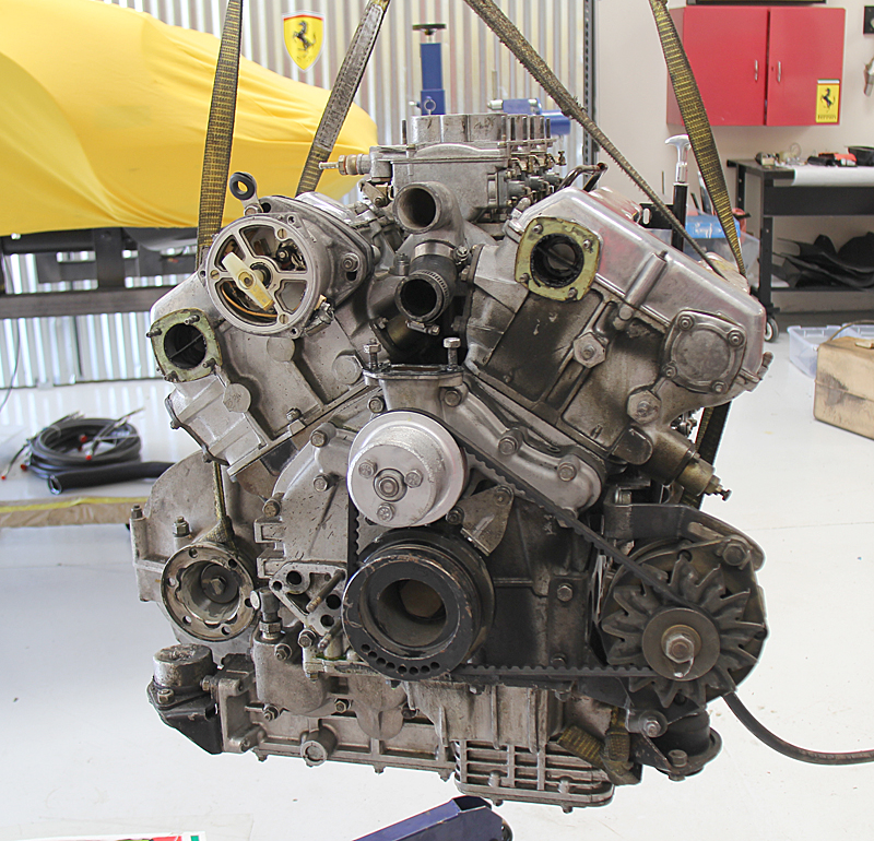 Dino 246 Engine removal, Dino Restoration,Jon Gunderson