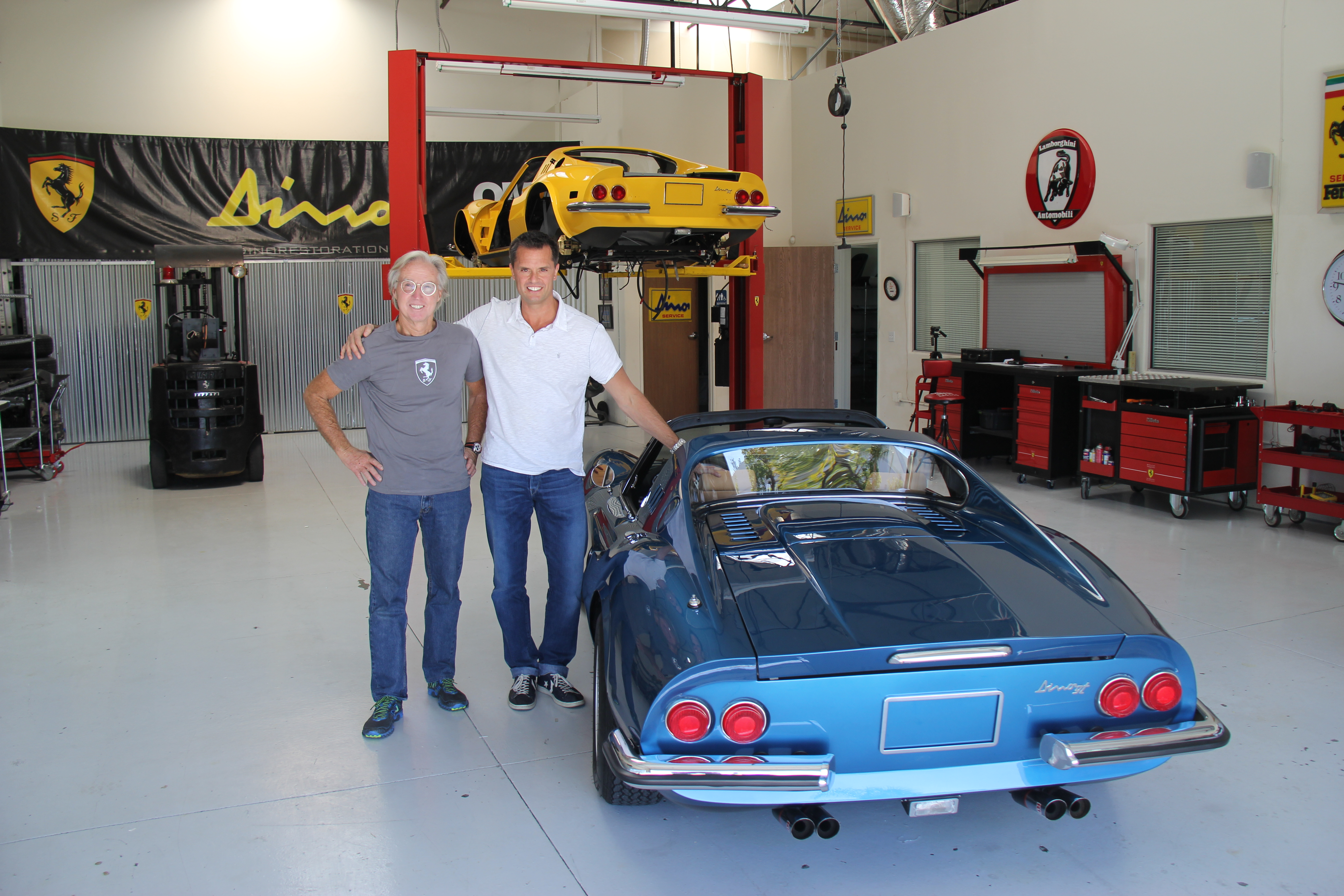 The owners first view of his fully restored Dino, Rob Sechan, Jon Gunderson, Dino Restoration