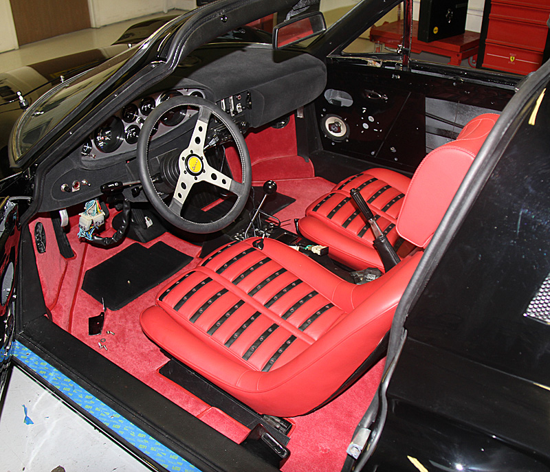 Reassembly of Ferrari Dino 08054, Jon Gunderson, Dino restoration