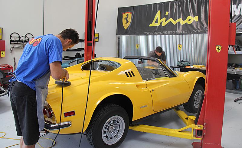 Buffing Ferrari Dino,Dino Restoration, Jon Gunderson