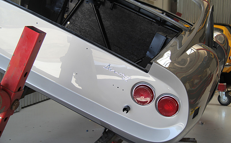 Ferrari Dino GT begins reassembly, Dino restoration. Jon Gunderson