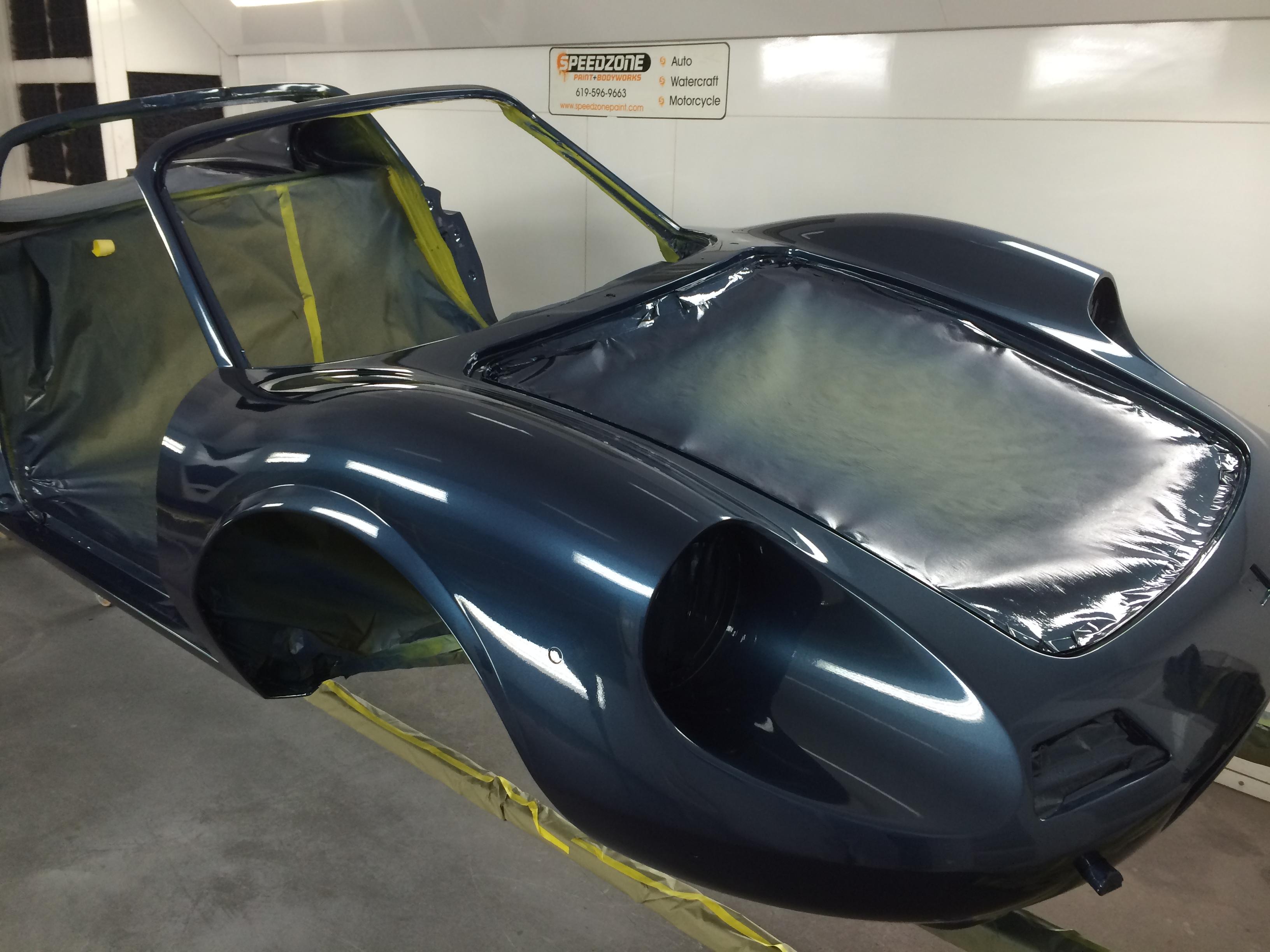 Ferrari Dino 246 Blue Sera Metallizzato, omgjon, Dino restoration, Jon Gunderson